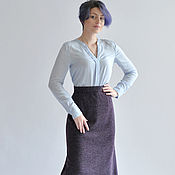 Одежда handmade. Livemaster - original item MIDI skirt purple in autumn. Handmade.