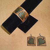 """Украшения ручной работы. Ярмарка Мастеров - ручная работа """"Вьюнок"""" браслет и серьги.. Handmade."""