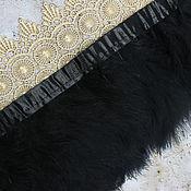 Материалы для творчества handmade. Livemaster - original item Feathers on the ribbon Black, length 12-20 cm, ribbon 10 cm. Handmade.