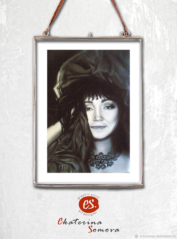 `Восточная сказка`. Стильный черно-белый портрет, на заказ, от художника Екатерины Сомовой