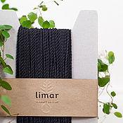 Материалы для творчества ручной работы. Ярмарка Мастеров - ручная работа Хлопковый шнур, 2 мм, черный. Handmade.