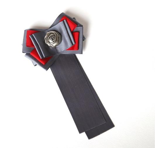 Броши ручной работы. Ярмарка Мастеров - ручная работа. Купить Брошь-галстук Rose. Handmade. Броши, броши купить