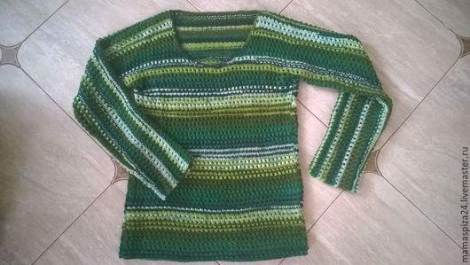 """Кофты и свитера ручной работы. Ярмарка Мастеров - ручная работа. Купить Кофта """"Морские волны"""". Handmade. Морская волна, волны"""