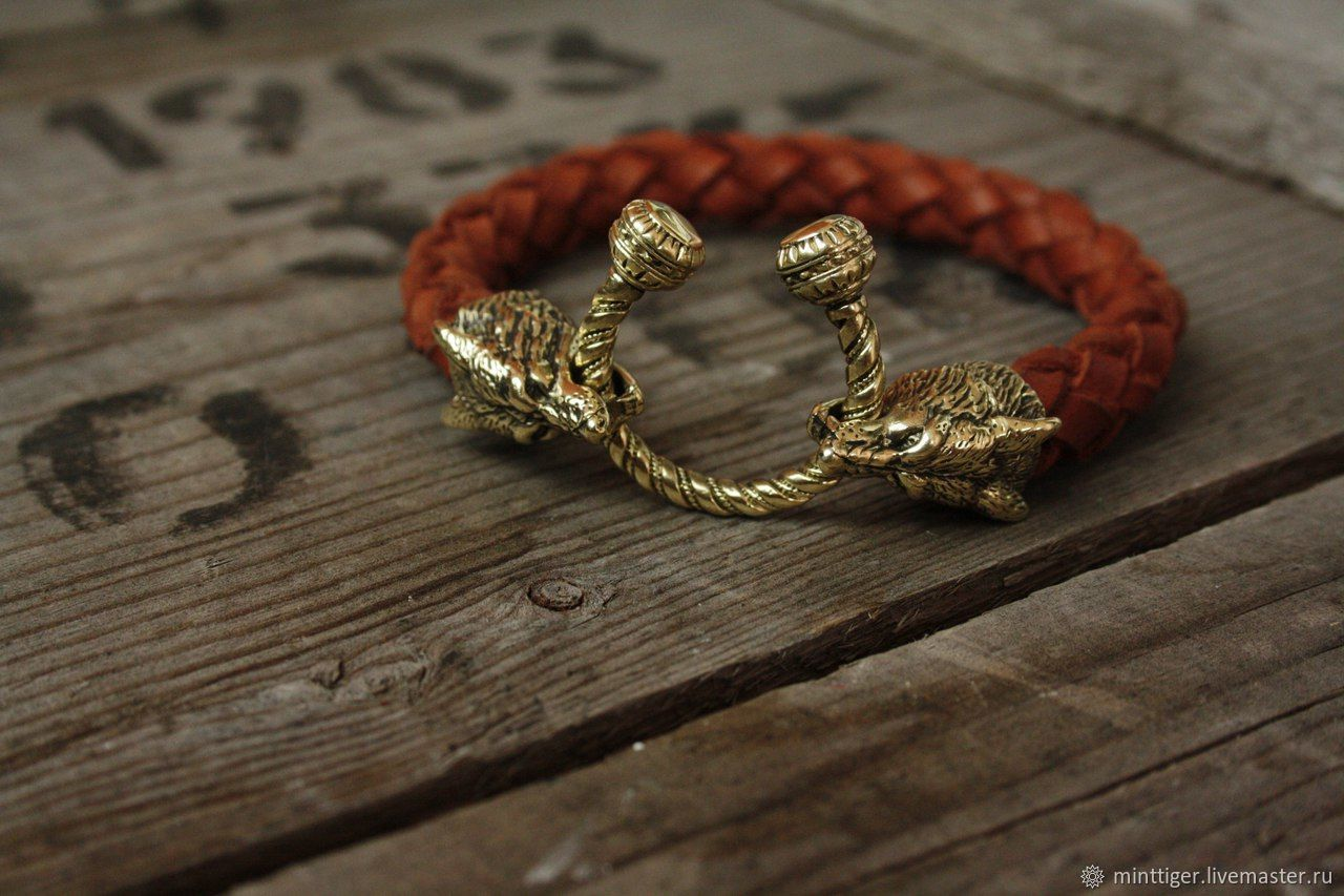 """Кожаный браслет """"Лиса"""", Bead bracelet, Volgograd,  Фото №1"""