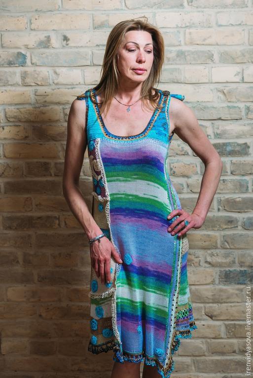"""Костюмы ручной работы. Ярмарка Мастеров - ручная работа. Купить Летнее платье""""Бохо-шик"""". Handmade. Ярко-красный, подарок женщине"""