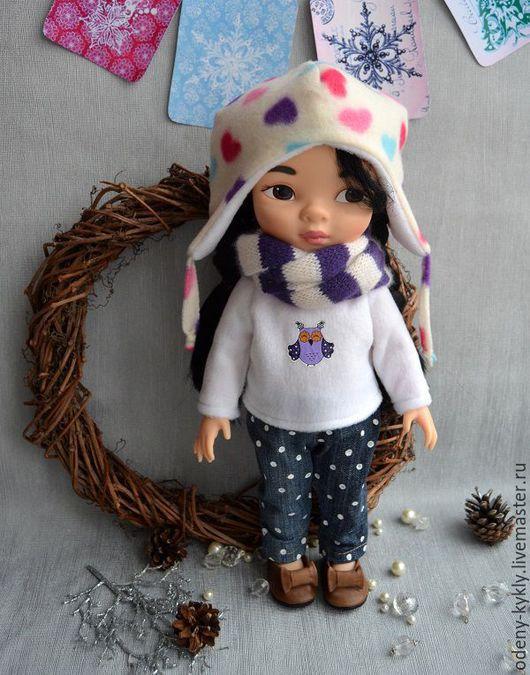 Одежда для кукол ручной работы. Ярмарка Мастеров - ручная работа. Купить Бронь! №035 Комплект теплой одежды  для куклы Дисней/Disney.. Handmade.