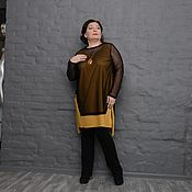 Одежда handmade. Livemaster - original item Tunic with Druk black mesh jacquard with bit and UDL. Art.1582. Handmade.