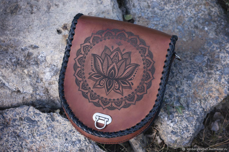 Women's leather handbag 'Lotus', women's leather bag, Classic Bag, Moscow,  Фото №1