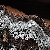 Аксессуары ручной работы. Ярмарка Мастеров - ручная работа мини шаль бохо Виньетка. Handmade.