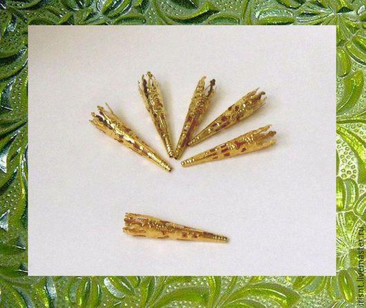 конус филигранный, мягкий металл. цвет золотой