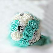 Свадебный салон handmade. Livemaster - original item Bouquet of satin ribbons. The bride`s bouquet. Understudy. Bouquet understudy. Handmade.