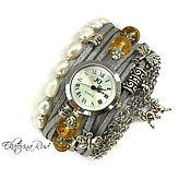 """Украшения ручной работы. Ярмарка Мастеров - ручная работа Часы браслет, """"Время таинства""""  часы женские, часы серебристые. Handmade."""