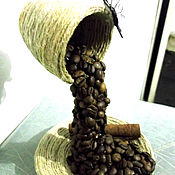 Подарки к праздникам ручной работы. Ярмарка Мастеров - ручная работа работы из кофейных зерен. Handmade.