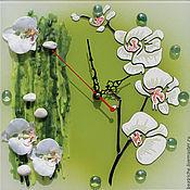 """Для дома и интерьера ручной работы. Ярмарка Мастеров - ручная работа Часы """"Нежность орхидеи"""". Handmade."""