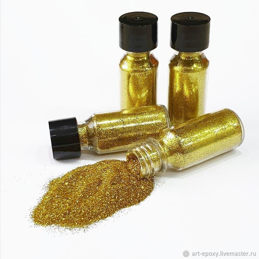 Glitter (sequins) gold, 10 grams, Glitters, Volgograd,  Фото №1
