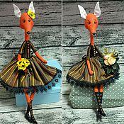 Куклы и игрушки ручной работы. Ярмарка Мастеров - ручная работа Утонченные Лисички. Handmade.