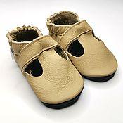 handmade. Livemaster - original item Beige Baby Sandals,Leather Baby Shoes,Baby Moccasins,Ebooba. Handmade.
