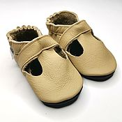Работы для детей, handmade. Livemaster - original item Beige Baby Sandals,Leather Baby Shoes,Baby Moccasins,Ebooba. Handmade.