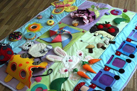 Развивающие игрушки ручной работы. Ярмарка Мастеров - ручная работа. Купить Развивающий коврик Большой мир маленького человечка. Handmade.