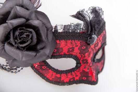"""Карнавальные костюмы ручной работы. Ярмарка Мастеров - ручная работа. Купить Карнавальная маска """" Кармелита"""". Handmade. Черный, маска"""
