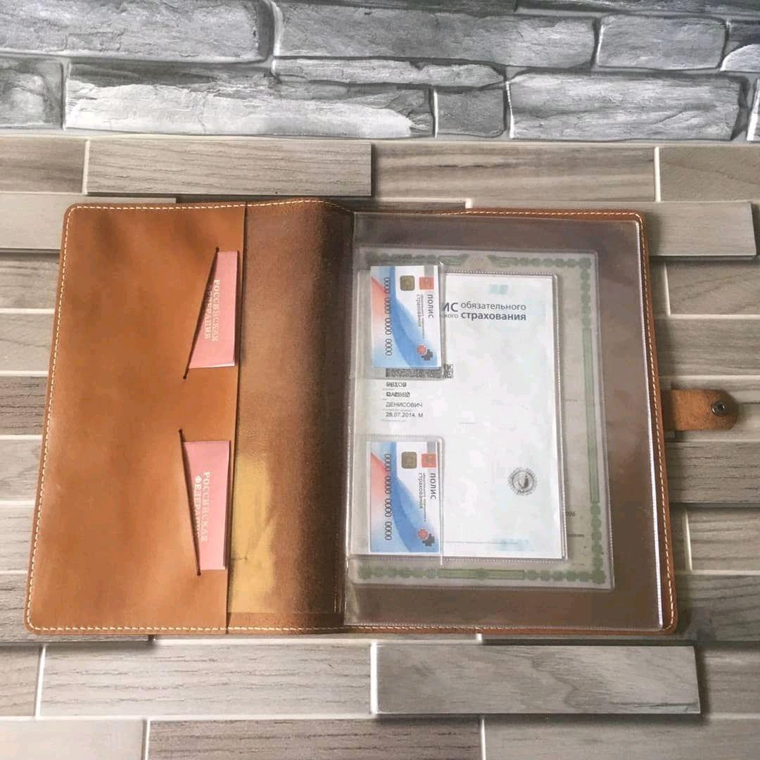 Кожаная папка для документов или органайзер d313, Органайзер, Москва,  Фото №1