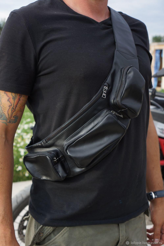 Сумка на пояс кожаная мужская, Мужская сумка, Москва,  Фото №1
