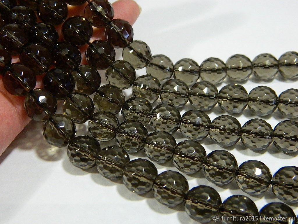 Rauchtopaz beads with a cut of 11.5 mm. for PCs, Beads1, Saratov,  Фото №1