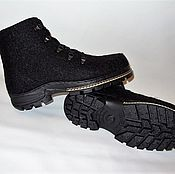 """Обувь ручной работы. Ярмарка Мастеров - ручная работа Валяные зимние ботинки """"Город"""". Handmade."""