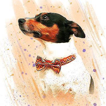 Дизайн и реклама ручной работы. Ярмарка Мастеров - ручная работа Фото-портрет с вашим любимым питомцем. Handmade.