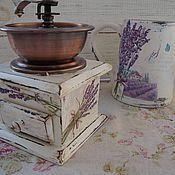 """Для дома и интерьера ручной работы. Ярмарка Мастеров - ручная работа кофемолка  """" Запах лаванды"""". Handmade."""