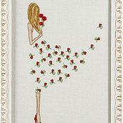 Картины и панно ручной работы. Ярмарка Мастеров - ручная работа «Цветочное платье». Handmade.
