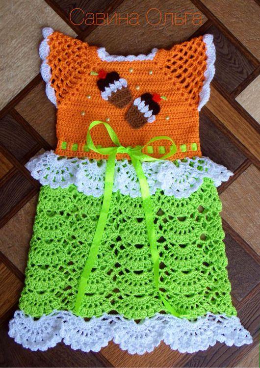 Одежда для девочек, ручной работы. Ярмарка Мастеров - ручная работа. Купить Кружевное летнее платье крючком для девочки.. Handmade.