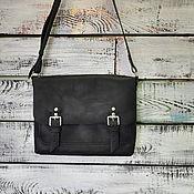Классическая сумка ручной работы. Ярмарка Мастеров - ручная работа Кожаная женская сумка черная. Handmade.