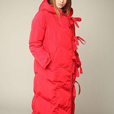 Одежда ручной работы. Ярмарка Мастеров - ручная работа Пуховик-Одеяло Красный 125см. Handmade.