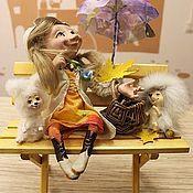Куклы и игрушки ручной работы. Ярмарка Мастеров - ручная работа Феюшка  лесных зверюшек и  яркого настроения!:). Handmade.