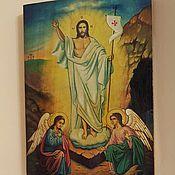 Картины и панно ручной работы. Ярмарка Мастеров - ручная работа Воскресение Христово-писаная икона. Handmade.