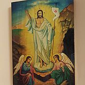 Картины и панно handmade. Livemaster - original item The resurrection of Christ-hand-written icon. Handmade.