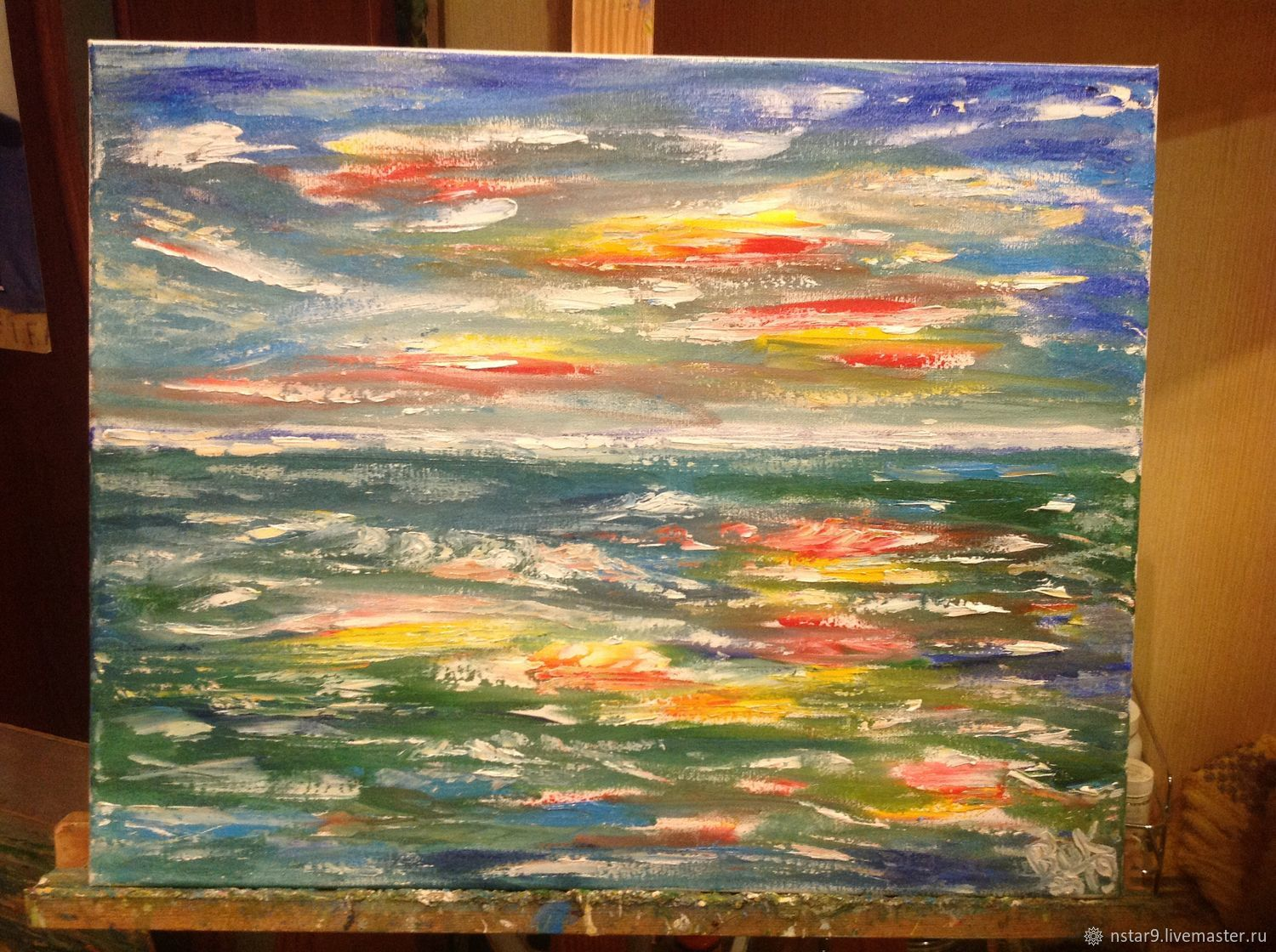 Marine fantasy(oil on canvas,40h50), Pictures, Moscow,  Фото №1