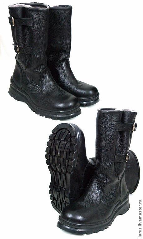 Обувь ручной работы. Ярмарка Мастеров - ручная работа. Купить Мужские сапоги. Handmade. Черный, сапоги, обувь ручной работы