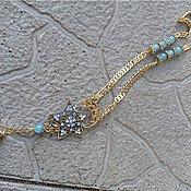 Украшения ручной работы. Ярмарка Мастеров - ручная работа Голубая звезда - кулон. Handmade.