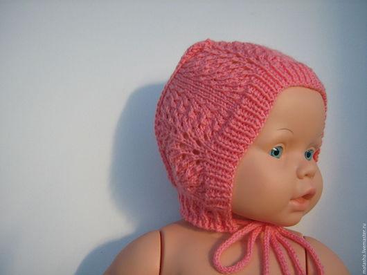 Для новорожденных, ручной работы. Ярмарка Мастеров - ручная работа. Купить Вязаный чепчик для новорожденной малышки. Handmade. Абстрактный