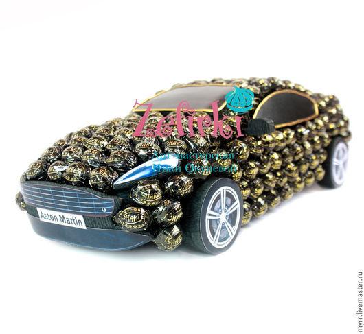 Подарки для мужчин, ручной работы. Ярмарка Мастеров - ручная работа. Купить Машина из конфет Aston Martin db9 машинка подарок мужчине водителю. Handmade.