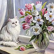Картины и панно ручной работы. Ярмарка Мастеров - ручная работа Весна на окошке. Handmade.