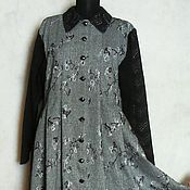 Одежда ручной работы. Ярмарка Мастеров - ручная работа Платье теплое р. 48,из твида,на подкладке. Handmade.