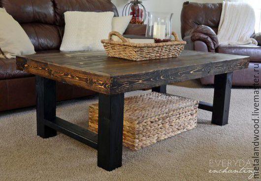 Мебель ручной работы. Ярмарка Мастеров - ручная работа. Купить Кофейный столик mod1 LOFT. Handmade. Комбинированный, эколофт, лофт