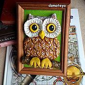 Картины и панно ручной работы. Ярмарка Мастеров - ручная работа Мудрая сова. Handmade.