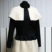 Одежда handmade. Livemaster - original item Coat of black and white winter. Handmade.
