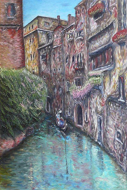 Город ручной работы. Ярмарка Мастеров - ручная работа. Купить Венецианский уголок. Handmade. Венеция, италия, гандольер, гандола, вода