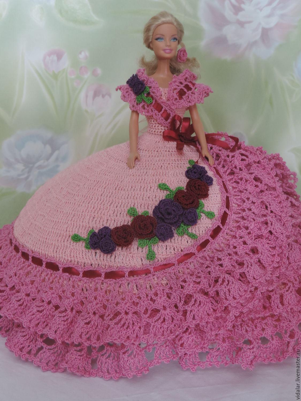 схемы вязаных крючком бальных платьев для барби