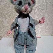 Мягкие игрушки ручной работы. Ярмарка Мастеров - ручная работа Мышка вязаная.Символ 2020.Мастер-класс мышки.Мыши. Мышка крючком.Мышка. Handmade.